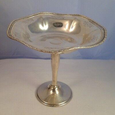 "Vintage WHITING Sterling Silver 4 1/2"" Tall X 5"" Wide Candy Nut Dish Bowl. 127g"
