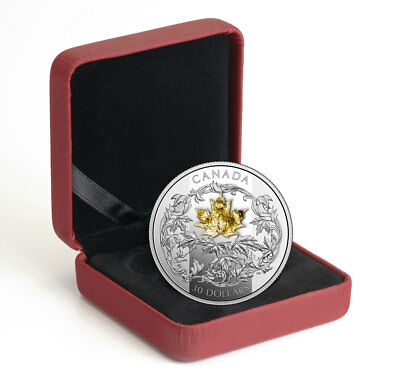 2018 Canada 2 oz Silver Maple Leaf Gilt Proof $30 Coin GEM Proof OGP SKU49837