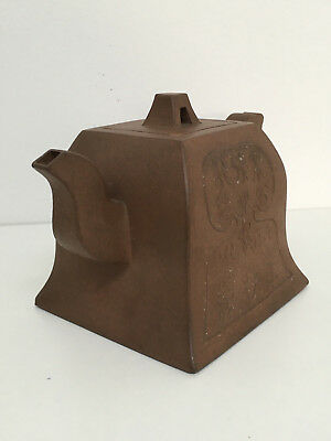 Chinese Yixing Teapot Qing Dynasty Marked To Base & Lid