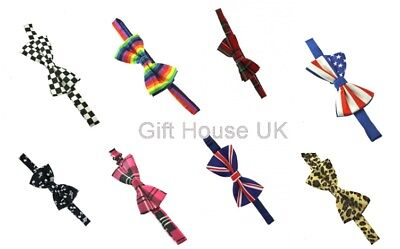 Bow Ties Mens Adjustable Satin Pre Tied Wedding Party Dickie Fancy Dress Party