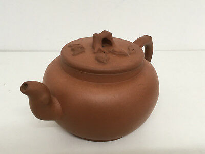 Fine Chinese Yixing Teapot With Unsual Mark To Base & Lid