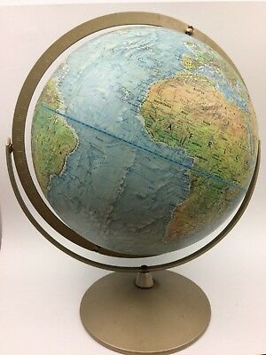 REPLOGLE Land & Sea Globe, 12 Inch, Raised Surface