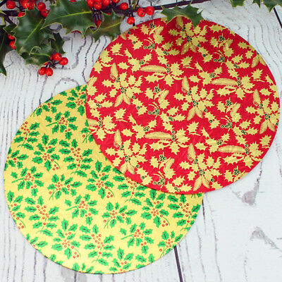 7 Inch Round Christmas Single Thick Card