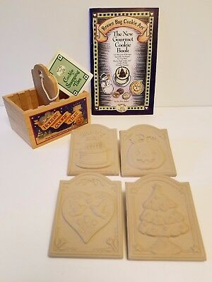 Brown Bag Cookie Art~Holiday Cookie Stamping Tiles~Wooden Storage Box~Cookbook