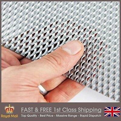 10mm x 5mm Expanded Metal - Raised - Mild Steel - 3 PACK = A5 (150 x 210mm) x 3