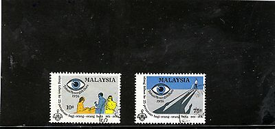 Malaysia - 1976 F/used Blind Association Set.