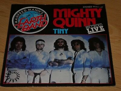 """7"""" Single: Manfred Mann's Earthband – Mighty Quinn (Live) / Tiny"""