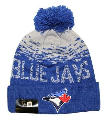 New Era Toronto Blue Jays MLB Sport Knit Cuff Knit Beanie / Woolly Hat New Blue