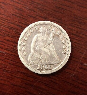 1848 5 Cent Silver Half Dime Early U.S. Collectible Coin