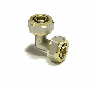 16mmx16mm Elbow double ,  PEX-AL-PEX BRASS COMPRESSION FITTINGS