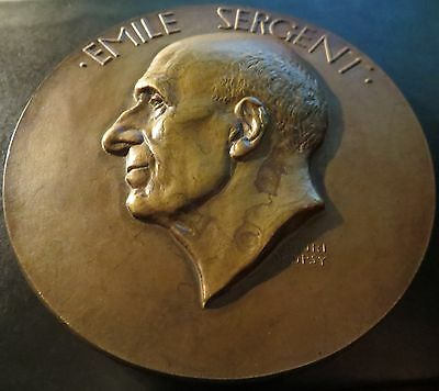 Grosse Bronze Medaille Prof. Sergent by Dropsy 1937 Tuberculosis - SCHÖN & RARE