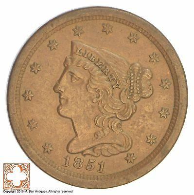 1851 Braided Hair Half Cent *XB63