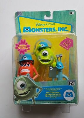 Monsters inc Talking Mike Wazowski with Fungas and Ray Figures
