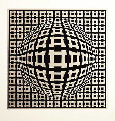 Victor Vasarely, Rosenthal I, Colour Silkscreen, Handsigned, numbered