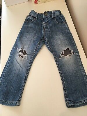 Boys Next Ripped Blue Jeans Age 2-3 Yrs