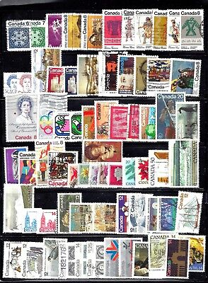 Canada SELECTION OF 70 DIFFERENT STAMPS USED SCOTT 554/773 (BS10637)