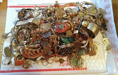 Vintage Large Lot Of Assorted Costume Jewelry #3