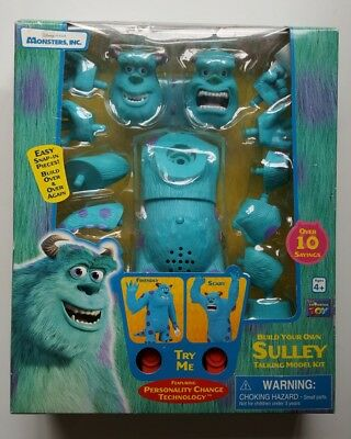 Monsters Inc Build your own Sulley Talking Model Kit 2001 RARE