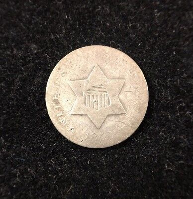 1852 3 Cent Silver Trime Early U.S. Collectible Coin