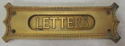 Fancy Antique Solid Cast Brass Mail Slot Hinged Door or Roll Top Letters Y&T