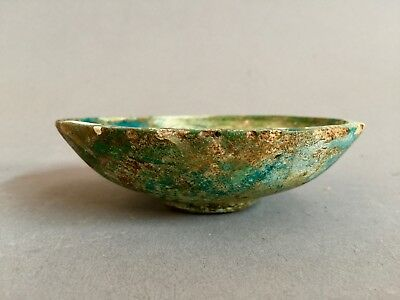 Ancient Egyptian Faience Lotus bowl, New Kingdom, Early 18th Dynasty