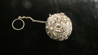 Alvin Sterling Silver Repousse Tea Ball