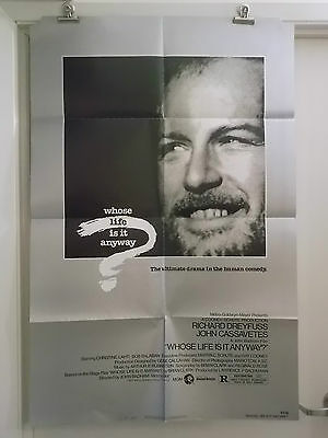 WHO'S LIFE IS IT ANYWAY one 1 sheet movie poster RICHARD DREYFUSS 1981 original