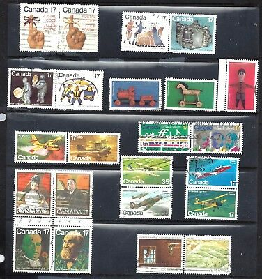 Canada SELECTION OF SETENANTS AND SETS USED (BS10662)