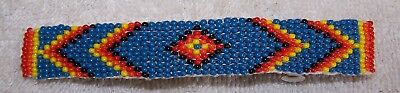 Hand Made Beaded Hair Barrette  Rendezvous Black Powder Mountain Man 10