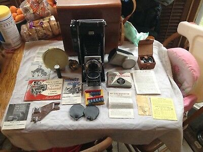 Polaroid Pathfinder Land Camera Model 110 with Case, Manual & Extras EX++