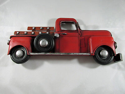 Vintage Style Old Red Truck Metal Wall Decor Country Farmhouse
