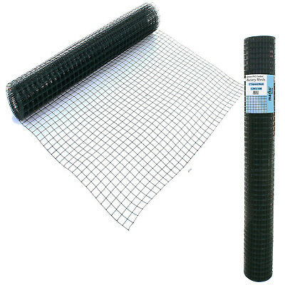 PVC Coated Galvanised Welded Wire Mesh Aviary Garden Fence Barrier Green Fencing