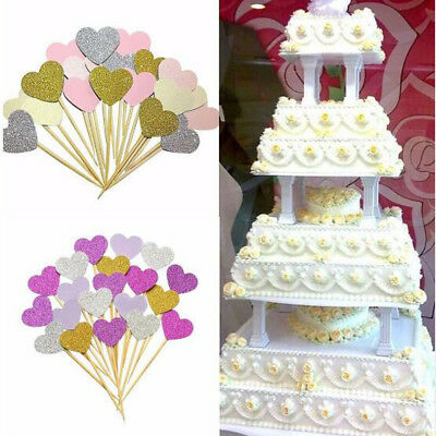 Cake Wedding Party Decor Birthday Decoration Cupcake Toppers Girl Baby Shower