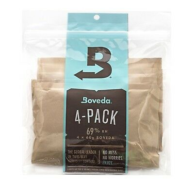 Boveda 69% Rh 2-Way Humidity Control Large 60 g 4 Pack 69%