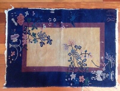 """Antique Hand Knotted Chinese Art Deco Nichols Peking Rug 1920's Wool 24"""" x 35"""""""