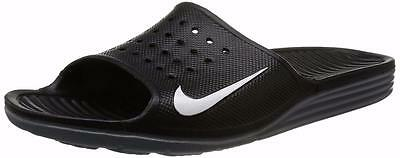 3762921cf1e8 New NIKE Solarsoft Slides 386163-011 BLACK Nike Sandals Nike Slippers Sizes  1213