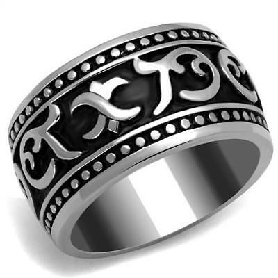 Men's Stainless Steel No Stone Band Ring 8 9 10 11 12 13 TK2233
