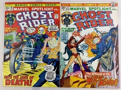 Marvel Spotlight #10 & 11 GhostRider,Both At NM- 9.2 White Pages!