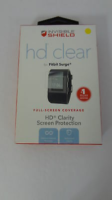 New Zagg Invisible Shield HD clarity Full Screen Protection for FitBit Surge