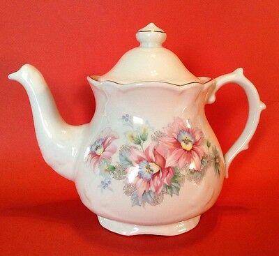 Price Kensington Potteries Pedestal Teapot - Richly Embossed - With Tag  England
