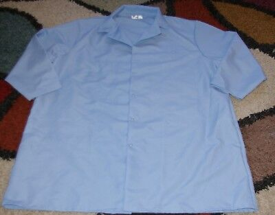 "Best Medical Wear Unisex L/S Lab Coat Snap Uniform 43"" Length Light Blue Size 3X"