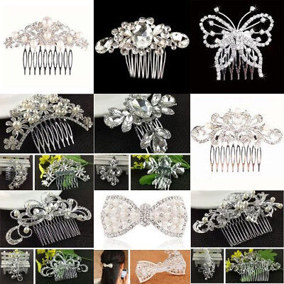 Pearl Decorated With Hair Accessories Wedding Comb For Laddies