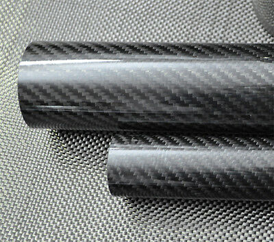 ID 14mm x OD 18mm x 500mm 3K Roll Wrapped Carbon Fiber Tube Glossy 18*14 RC DIY