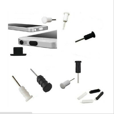 10set Black+White Silicone Anti Dust Cap Earphone Plug Stopper For iPhone 6 6sp