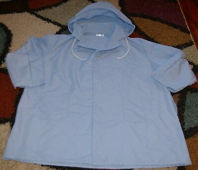 "Best Medical Unisex L/S Hooded Lab Coat Snaps 3 Pockets 39"" Length Sz 3X"