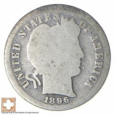 BETTER Date - 1896-S Barber Dime - Look it up! *465