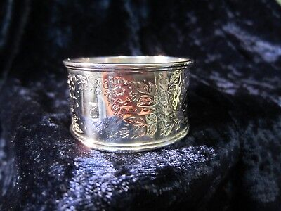 Antique English Hallmarked Sterling Napkin Ring London 1892