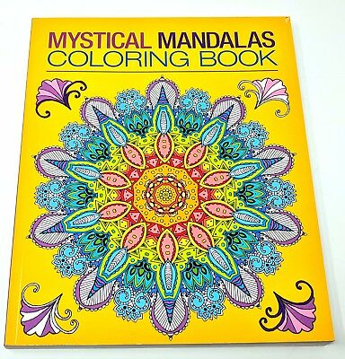 Mystical Mandalas Adult Coloring Book Chartwell Coloring NEW