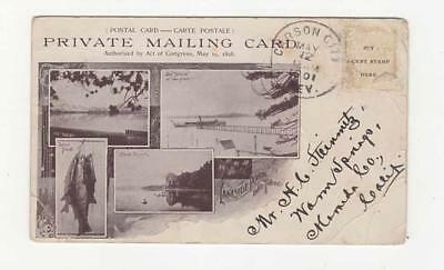 Lake Tahoe Ca, Lakeside Park, South Shore, Advertising Private Mailing Card,