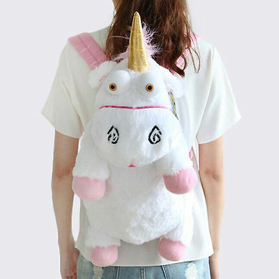 US Stock Unicorn Plush Backpack Bag Despicable Fluffy Stuffed Agnes Gift 60cm